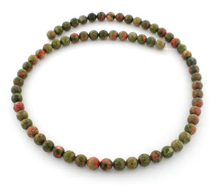 6mm Round Unakite Gem Stone Beads
