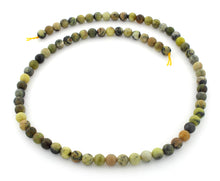 Load image into Gallery viewer, 6mm Round Yellow Turquoise Gem Stone Beads