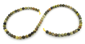 6mm Round Yellow Turquoise Gem Stone Beads