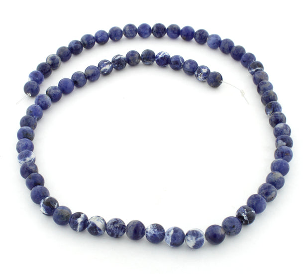 6mm Sodalite Round Gem Stone Beads