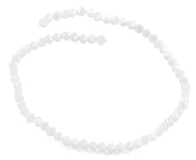 Load image into Gallery viewer, 6mm White Twist Faceted Crystal Beads