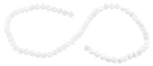 6mm White Twist Faceted Crystal Beads