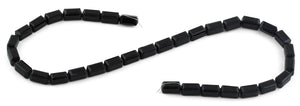 6x12mm Black Rectangle Faceted Crystal Beads