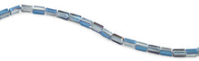 Load image into Gallery viewer, 6x12mm Blue Rectangle Faceted Crystal Beads