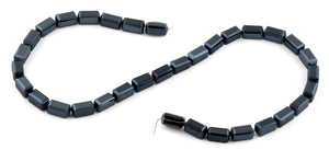 6x12mm Navy Blue Rectangle Faceted Crystal Beads