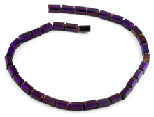 Load image into Gallery viewer, 6x12mm Purple Rectangle Faceted Crystal Beads