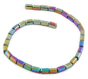 6x12mm Rainbow Rectangle Faceted Crystal Beads