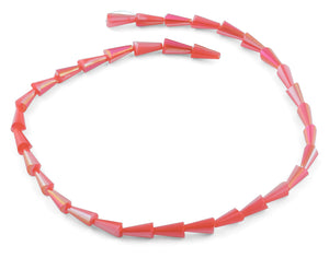 6x12mm Red Cone Faceted Crystal Beads