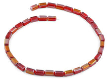 Load image into Gallery viewer, 6x12mm Red Rectangle Faceted Crystal Beads