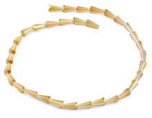 Load image into Gallery viewer, 6x12mm Yellow Cone Faceted Crystal Beads