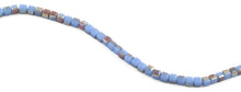 Load image into Gallery viewer, 6X6mm Blue Brown Square Faceted Crystal Beads