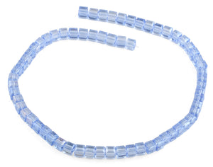6X6mm Blue Square Faceted Crystal Beads