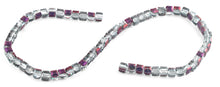 Load image into Gallery viewer, 6X6mm Clear Purple Faceted Crystal Beads
