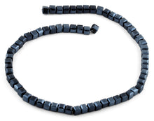 Load image into Gallery viewer, 6X6mm Navy Blue Square Faceted Crystal Beads