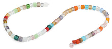 Load image into Gallery viewer, 6X6mm Rainbow Square Faceted Crystal Beads