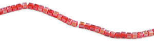 6X6mm Red Square Faceted Crystal Beads