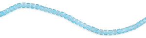6X6mm Teal Square Faceted Crystal Beads
