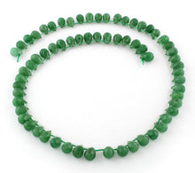 Load image into Gallery viewer, 6x9mm Facet Drop Green Aventurine Gem Stone Beads