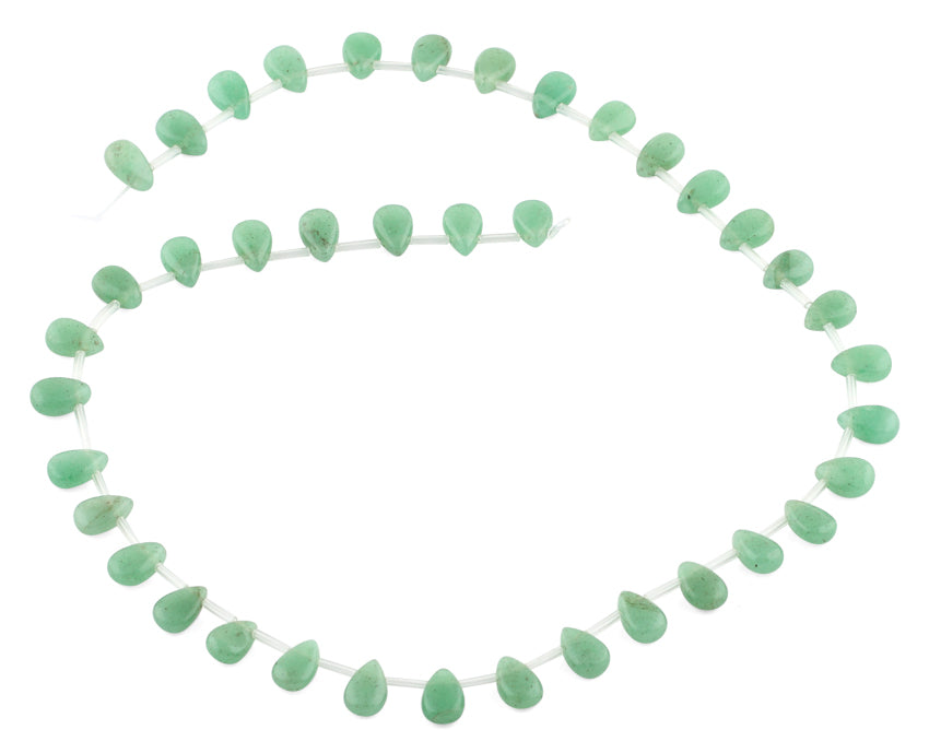 6x9MM Green Aventurine Drop Gemstone Beads