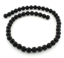 Load image into Gallery viewer, 8mm Black Agate Round Gem Stone Beads