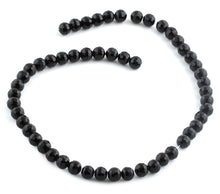 Load image into Gallery viewer, 8mm Black Faceted Round Crystal Beads