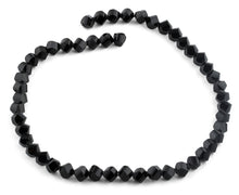 Load image into Gallery viewer, 8mm Black Twist Faceted Crystal Beads