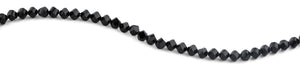 8mm Black Twist Faceted Crystal Beads