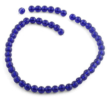 Load image into Gallery viewer, 8mm Blue Faceted Round Crystal Beads