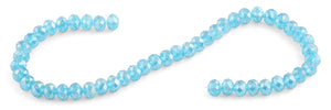 8mm Blue Rondelle Faceted Crystal Beads