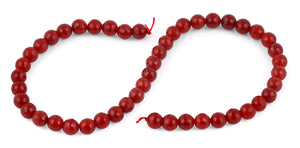 8mm Carnelian Faceted Gem Stone Beads
