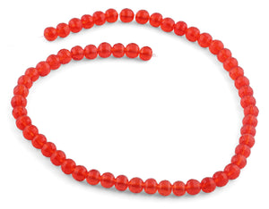 8mm Clear Red Faceted Round Crystal Beads