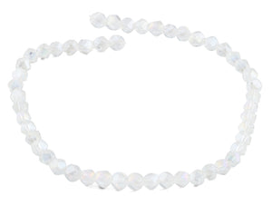 8mm Clear Twist Faceted Crystal Beads