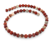 Load image into Gallery viewer, 8mm Flake Red Jasper Gem Stone Beads