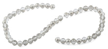 Load image into Gallery viewer, 8mm Grey Round Faceted Crystal Beads