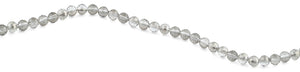 8mm Grey Round Faceted Crystal Beads