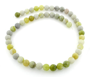 8mm Harmony Serpentine Round Plain Gem Stone Beads