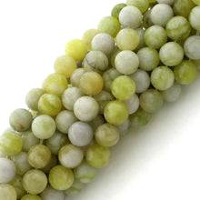 Load image into Gallery viewer, 8mm Harmony Serpentine Round Plain Gem Stone Beads