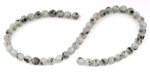 8mm Kiwi Faceted Gem Stone Beads