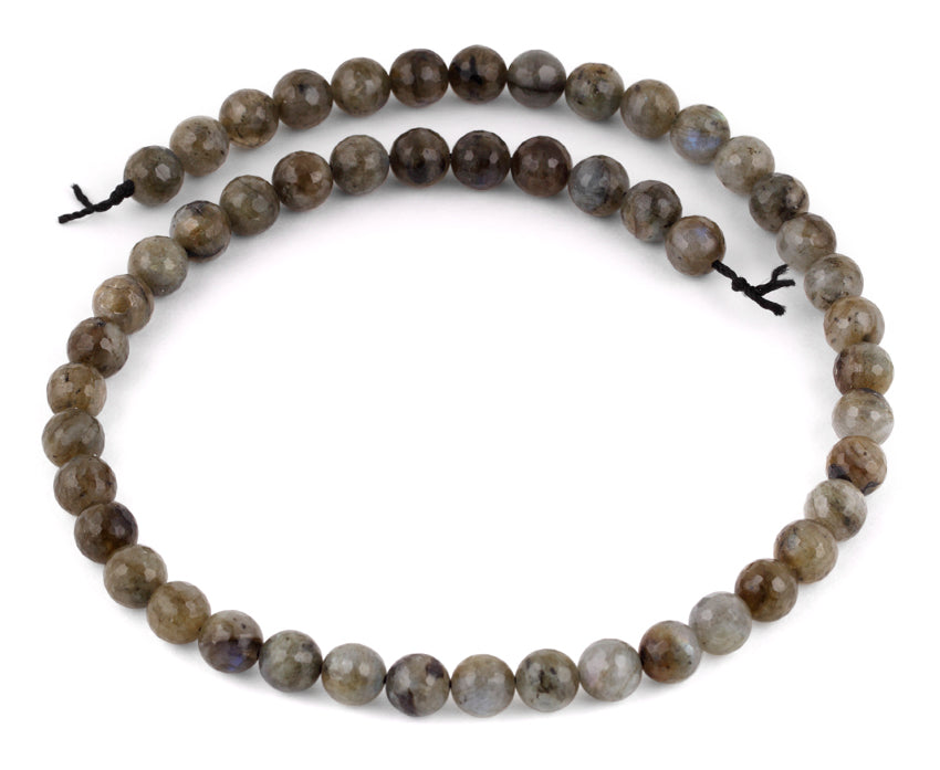 8mm Labradorite Faceted Gem Stone Beads