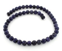 Load image into Gallery viewer, 8mm Lapis Jasper Round Gem Stone Beads