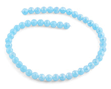 Load image into Gallery viewer, 8mm Light Blue Faceted Round Crystal Beads