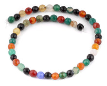 Load image into Gallery viewer, 8mm Multi-Color Agate Faceted Gem Stone Beads