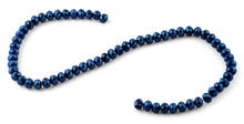 Load image into Gallery viewer, 8mm Navy Blue Faceted Rondelle Crystal Beads