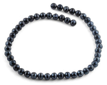 Load image into Gallery viewer, 8mm Navy Blue Round Faceted Crystal Beads
