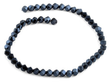 Load image into Gallery viewer, 8mm Navy Blue Twist Faceted Crystal Beads
