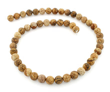 Load image into Gallery viewer, 8mm Picture Jasper Gem Stone Beads