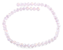 Load image into Gallery viewer, 8mm Pink Twist Faceted Crystal Beads