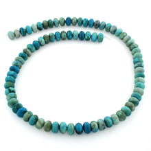 Load image into Gallery viewer, 8mm Plain Rondelle Turquoise Jasper Gem Stone Beads