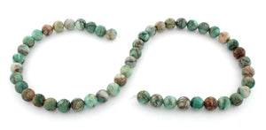 8mm Plain Round Green Turquoise Gem Stone Beads