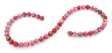 Load image into Gallery viewer, 8mm Plain Round Pink Matrix Gem Stone Beads